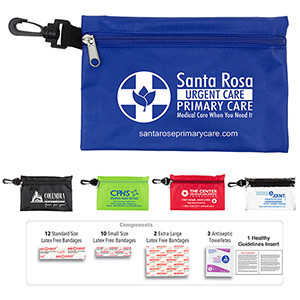 """""""All-You-Need"""" 28 Piece Multiple Bandage Healthy Living Pack in Supersized Zipper Pouch"""