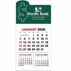 Triumph® 3-Month View Stick Up Grid Calendar