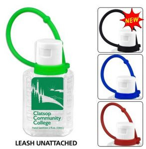 0.5 oz Compact Hand Sanitizer Antibacterial Gel in Flip-Top Squeeze Bottle with Adjustabel Silicone