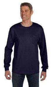 Hanes 6.1 Oz. Tagless® ComfortSoft® Long-Sleeve Pocket T-Shirt