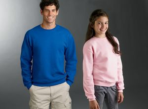 JERZEES® Youth 8 Oz. NuBlend® Fleece Crew Neck Pullover