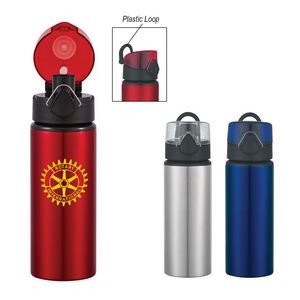 25 Oz. Aluminum Sports Bottle With Flip-Top Lid