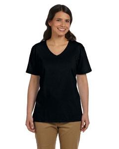 Hanes Ladies' 6.1 Oz. Tagless® V-Neck Cotton T-Shirt