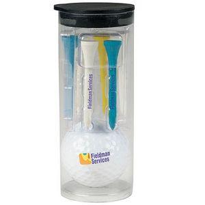 Par Pack Tube w/ Golf Ball-N-Tees w/ Titleist® DT TruSoft™ Golf Ball