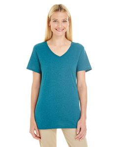 JERZEES® Ladies' 4.5 Oz. TRI-BLEND V-Neck T-Shirt