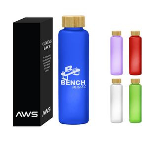 Aws 20 Oz. Belle Glass Bottle With Bamboo Lid