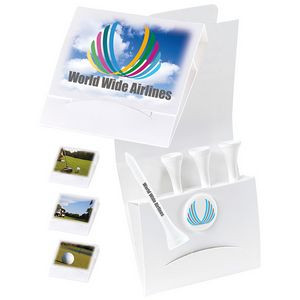 "4-1 Golf Tee Packet with Ball Marker & 2 3/4"" Tees"