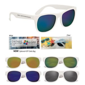 Rubberized Mirrored Sunglasses