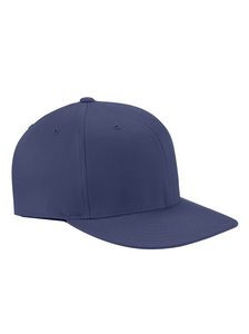 Yupoong Adult Wooly Twill Pro Baseball On-Field Shape Cap with Flat Bill