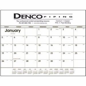 Triumph® Black & White Desk Pad Calendar