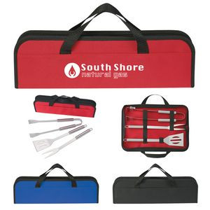 3-Piece BBQ Set In Case