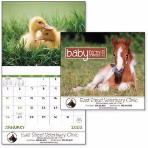 Good Value™ Baby Farm Animals Calendar (Stapled)