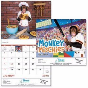 Good Value™ Monkey Mischief Calendar (Stapled)