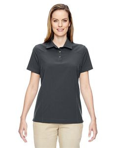 North End® Ladies' Excursion Crosscheck Woven Polo Shirt