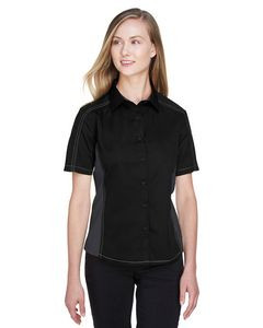 North End® Ladies Fuse Colorblock Twill Shirt