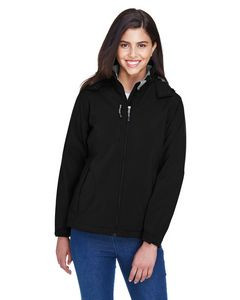 NORTH END Ladies' Glacier Insulated Three-Layer Fleece Bonded Soft Shell Jacket with Detachable Hood