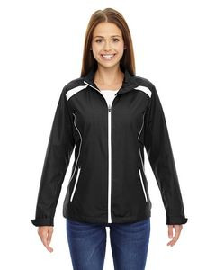 Ladies' Tempo North End® Recycled Polyester Jacket w/Embossed Print