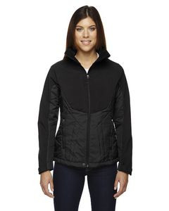 North End® Ladies' Innovate Hybrid Insulated Soft Shell Jacket