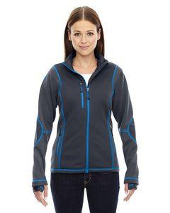 North End® Ladies' Pulse Textured Bonded Fleece Jacket