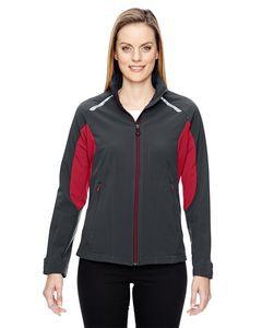 North End® Ladies' Excursion Soft Shell Jacket w/Laser Stitch Accent