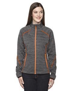 North End® Ladies' Flux Mélange Bonded Fleece Jacket