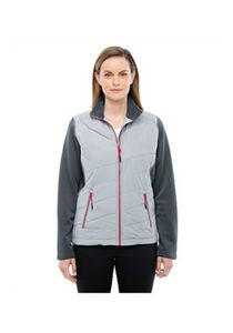 North End Sport® Red Ladies' Quantum Interactive Hybrid Insulated Jacket