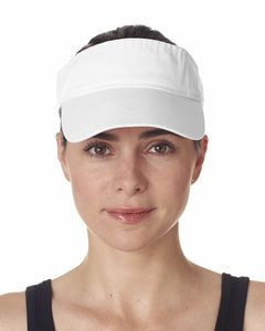 UltraClub® Adult Classic Cut Chino Cotton Twill Visor