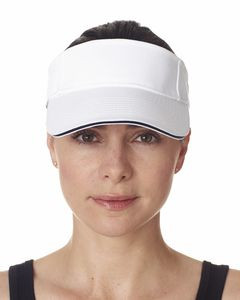 UltraClub® Adult Classic Cut Brushed Cotton Twill Sandwich Visor