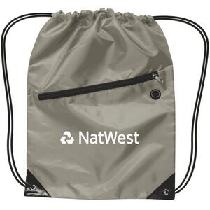 Drawstring Backpack w/ Zipper
