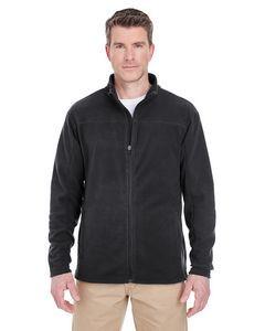 UltraClub® Men's Cool & Dry Full-Zip Microfleece Jacket