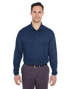 ULTRACLUB Adult Cool & Dry Long-Sleeve MeshPiqué Polo