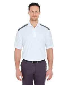 UltraClub® Adult Cool & Dry Two-Tone Mesh Piqué Polo Shirt