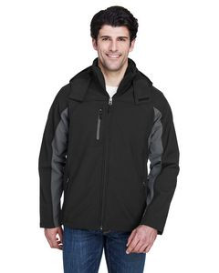 ULTRACLUB Adult Colorblock 3-in-1 Systems Hooded Soft Shell Jacket