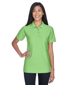 UltraClub® Ladies' Cool & Dry Elite Tonal Stripe Performance Polo Shirt