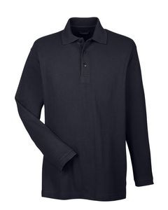 UltraClub® Men's Long-Sleeve Whisper Piqué Polo Shirt