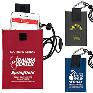 """Angel"" Cell Phone & ID Holder Wallet w/Carabiner & Breakaway Safety Lanyard (Overseas)"