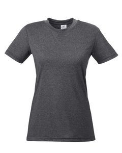 UltraClub® Ladies' Cool & Dry Heathered Performance T-Shirt