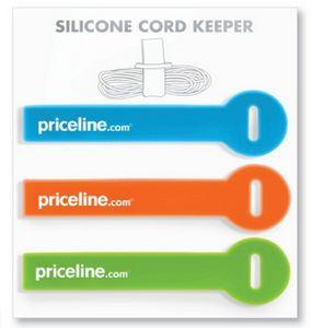 Custom Shape Cord Keeper Silicone Strap - Set of 3