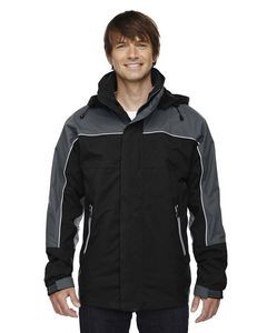 NORTH END Adult 3-in-1 Seam-Sealed Mid-Length Jacket with Piping