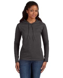 ANVIL® Ladies' Lightweight Long-Sleeve Hooded T-Shirt