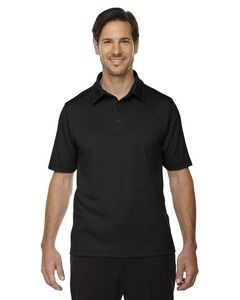North End® Men's Exhilarate Coffee Charcoal Performance Polo Shirt w/ Back Pocket