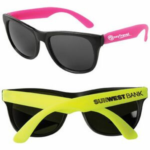 Neon Sunglasses w/Black Frame