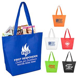 """Camarillo"" Gusseted Shopping, Grocery & Tote Bag w/Hook & Loop Closure (Overseas)"