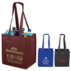 """The Sonoma"" 6 Bottle Wine Tote Bag (Overseas)"