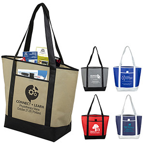 """""""The City Life"""" Beach, Corporate & Travel Boat Tote Bag"""
