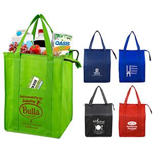 """Super Cooler"" Large Insulated Cooler Zipper Tote Bag"