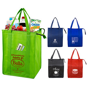 """""""Super Cooler"""" Large Insulated Cooler Zipper Tote Bag (Overseas)"""