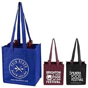"""The Brunello"" 4 Bottle Wine Tote Bag (Overseas)"