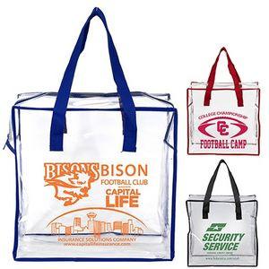 """""""Arete"""" Clear Vinyl Stadium Compliant Tote Bag"""