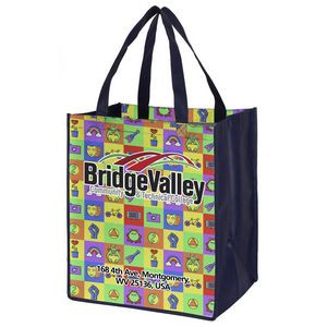 """""""Heavy Haul"""" Full Color Sublimation Grocery Shopping Tote Bags (Overseas)"""
